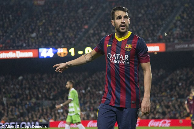 Gunning for it: United failed in a bid to lure Barcelona star Cesc Fabregas to Old Trafford