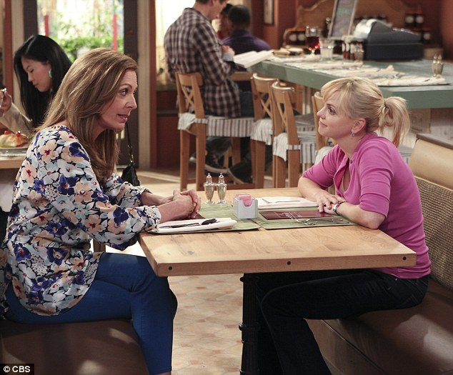 Funny ladies: Allison Janey and Anna play mother and daughter in the CBS sitcom Mom