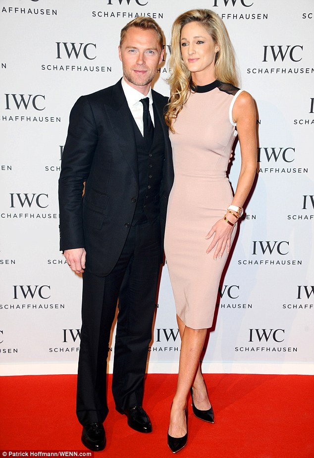 Holiday tan: Fresh from his Maldives holiday, Ronan Keating was suited and booted as he arrived at the gala with his stunning girlfriend, Storm Uechtritz