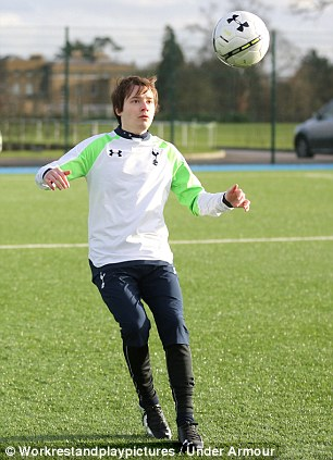 Focused: During the early stages of the short sprints, I'm in prime position to control the ball
