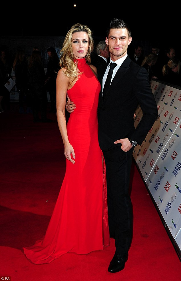 Partners: Abbey and her dance partner, Aljaz Skorjanec, looked as glamorous as they did in Strictly