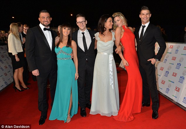 Together again: Abbey was joined by her dancing comrades, including Susanna Reid