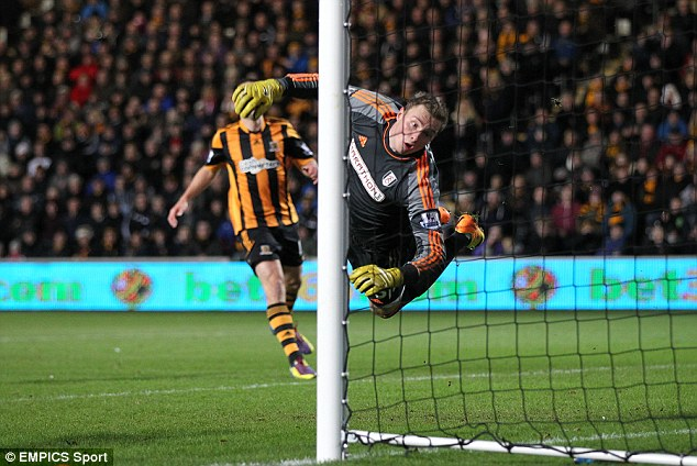 Bad day at the office: Stockdale conceded six against Hull after Christmas