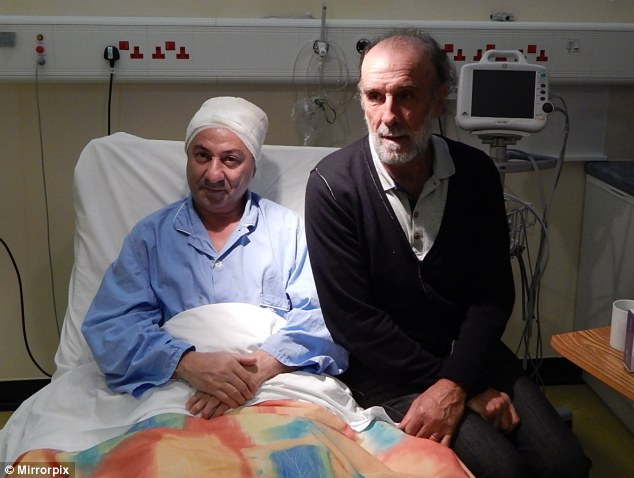 Spurred on: Ossie Ardiles and Ricky Villa pictured recovering in hospital on The Falkland Islands after being pulled from the mangled hire car