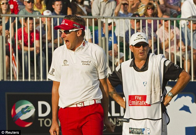 Happy ending: Ian Poulter finished 2013 strongly in his last three tournaments, including Duba (above)