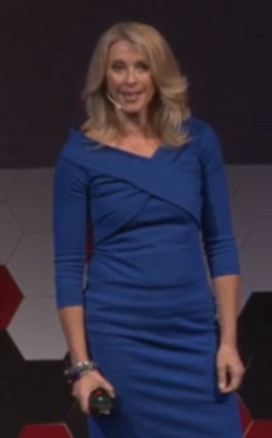 Baring all: Journalist and newseader Tracey Spicer stripped off at a recent TEDxSouthBankWomen talk to demonstrate how women spend too much time on grooming