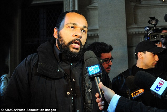 Salute: The 'quenelle' gesture originated from Anelka's friend, the French comedian Dieudonne M'Bala M'Bala