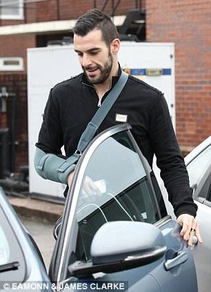 Open door policy. Negredo gets into the vehicle