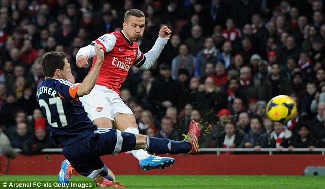 Heading home? Lukas Podolski could go in the opposite direction if Draxler leaves Germany for Arsenal