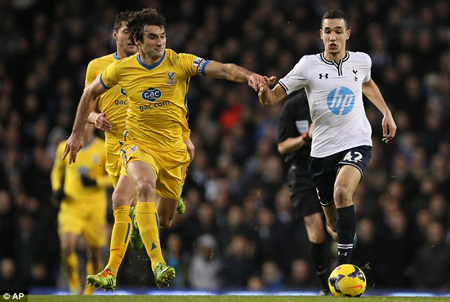 New star in town: Tim Sherwood has introduced Nabil Bentaleb (right) into the Tottenham first team from the club's academy system