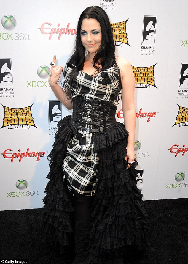 Expecting: Amy Lee revealed she was pregnant via her Twitter over the weekend, pictured in April 2012 in Los Angeles
