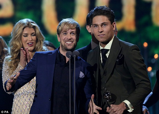 Success story: And as well as looking the part, the model enjoyed success at the star-studded awards ceremony, with I'm A Celebrity... Get Me Out Of Here! being named Best Entertainment Programme