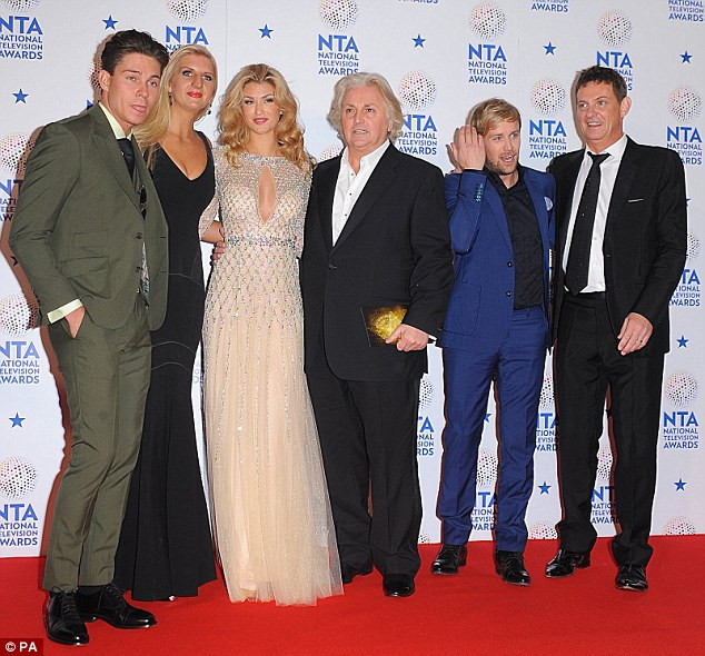 I'm A Celebrity...Get Me In There!: Joey Essex, Rebecca Adlington, Amy, David Emanuel, Kian Egan, and Matthew Wright posed together as they headed inside