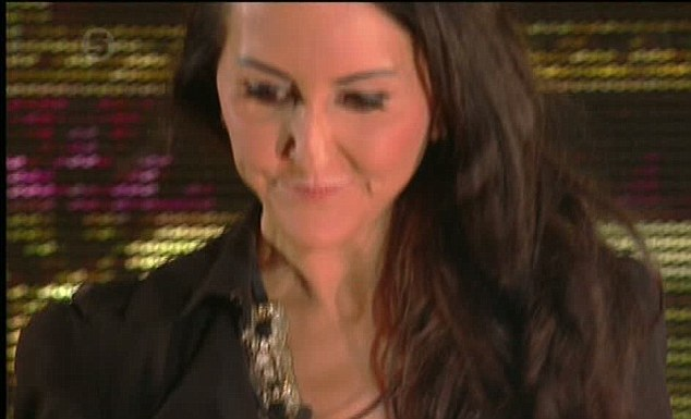 Booed: Liz was met with boos and jeers from the audience, who were present for the real-time eviction