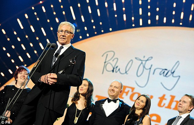 First up: The first award of the evening, for Factual Entertainment, went to Paul O'Grady: For The Love of Dogs
