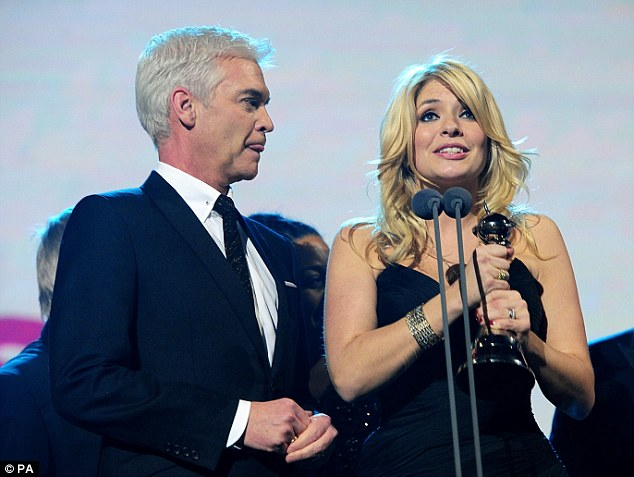 Grateful: Hosts Phillip Schofield and Holly Willoughby explained how touched they were to receive the award