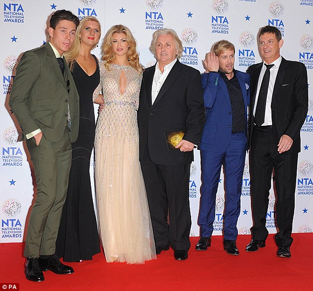 From the jungle to the red carpet! I'm A Celebrity...Get Me Out Of Here contestants (L-R) Joey Essex, Rebecca Adlington, Amy Willerton, David Emanuel, Kian Egan, and Matthew Wright were named winners of the award for Best Entertainment Programme