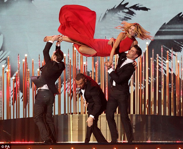 Red hot! Abbey showcased her best moves as she took to the stage to perform a dazzling Strictly routine