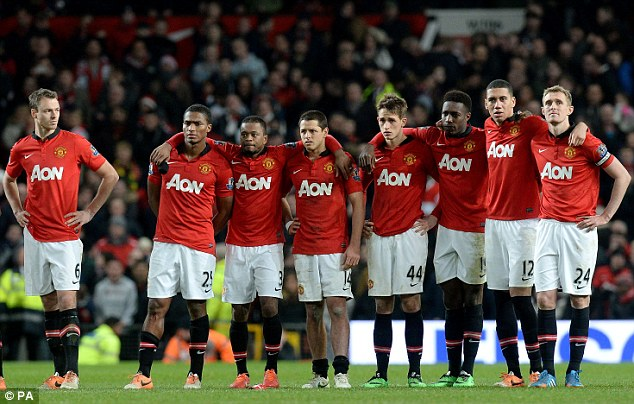 Crestfallen: Manchester United have struggled this season - to the delight of opposing fans across the country