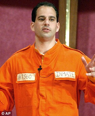 Justice: Barry Minkow, a former millionaire and convicted con artist pictured here in 2002, pleaded guilty to cheating his San Diego church congregation out of some $3million
