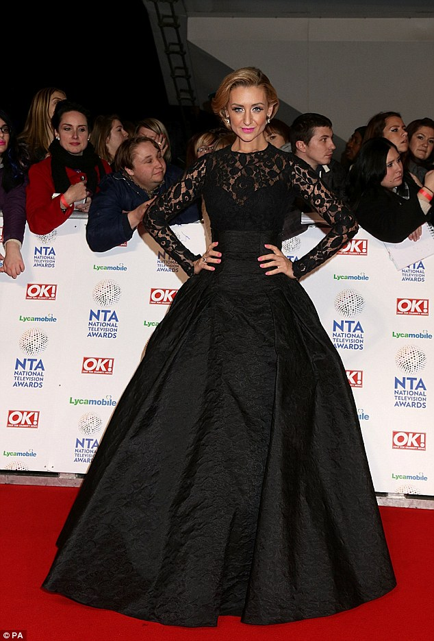 OTT: Catherine Tyldesley went too far in her overpowering black ball gown