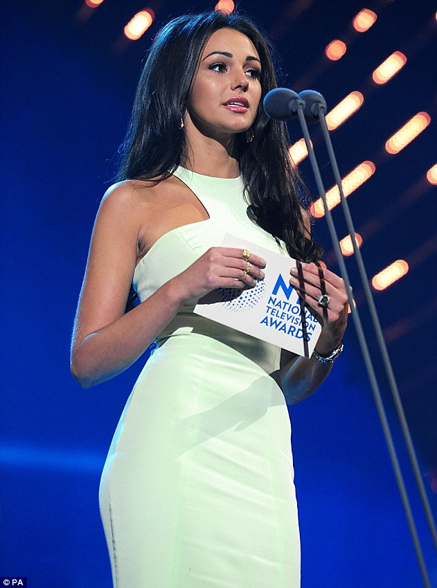 Hostess with the mostess: Michelle Keegan presented the Best Daytime Show award to This Morning