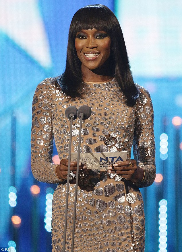 Invasion of the supermodel: Naomi Campbell took to the stage to present the Best Talent Show Award to Strictly Come Dancing