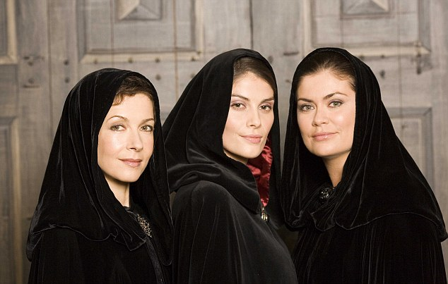 Seeing triple: The three actresses who have played the Scottish Widow, Deborah Moore, Hayley Hunt and Amanda Lamb, reunited in 2006 to mark the 20th anniversary of the first advert being released