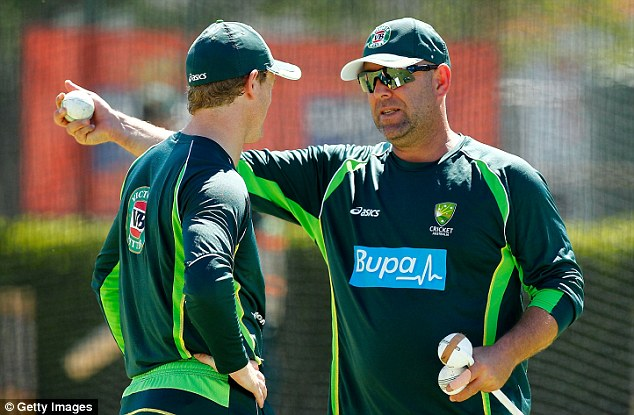 Shrewd: Coach Darren Lehmann (right) makes sure his side are helped by well-respected ex-players