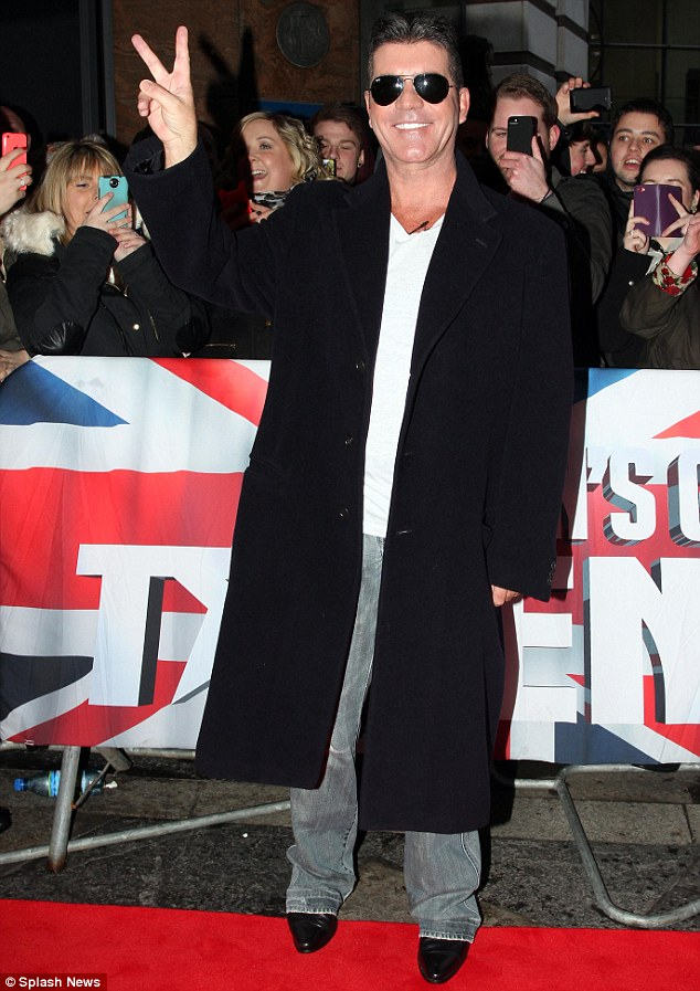 'I am Fabulous': Simon Cowell, who did not attend the bash, tweeted to say he found Nigel's performance: 'Very very funny'