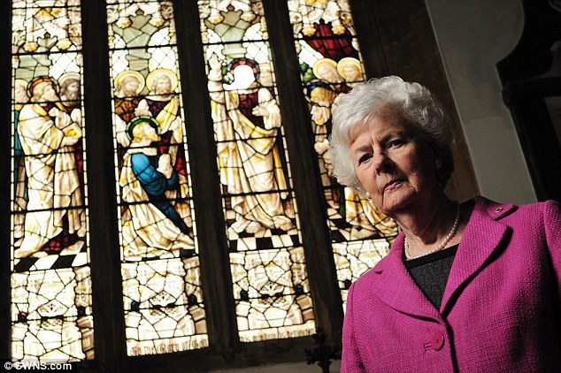 'It really is very sad': Churchwarden Dorothy Tozer said the attacks on the building are 'very distressing'