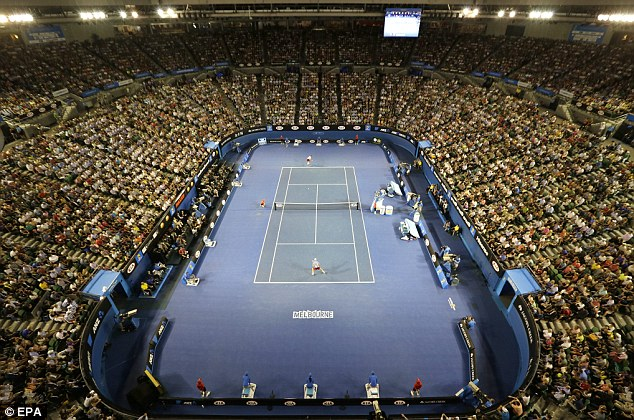 Not a spare seat: The Rod Laver Arena in Melbourne was packed out for the semi-final