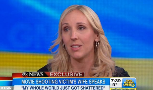 Heartbroken: Nicole Oulson spoke to Good Morning America on Thursday about the loss of her husband, Chad, who was shot dead in a movie theater last week. She said she wants his killer locked up forever