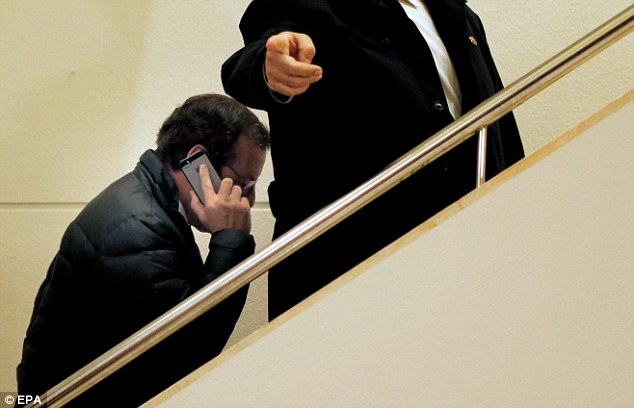 Spotted: Rosell arriving at Barca's King's Cup clash against Levante on Wednesday night