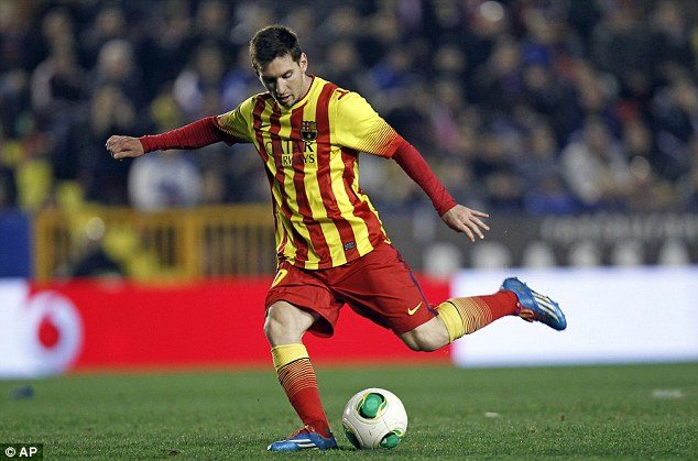 Lionel's landmark: Messi played in his 400th game for Barcelona during the comfortable away victory
