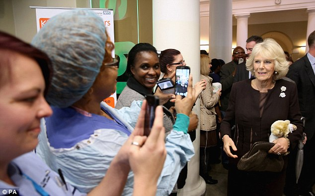 The couple visited several parts of the hospital including its neo-natal unit where Camilla cheered worried parents and their babies as she cooed and pulled funny faces