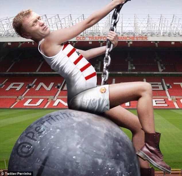 Mock up: Some argued that David Moyes also took a wrecking ball to Old Trafford during his time at the club