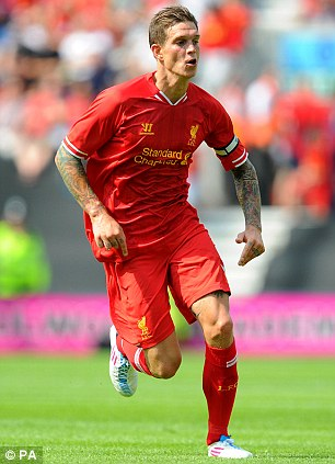Growing injury list: Liverpool midfielder Lucas (left) and defender Daniel Agger (right) are also out