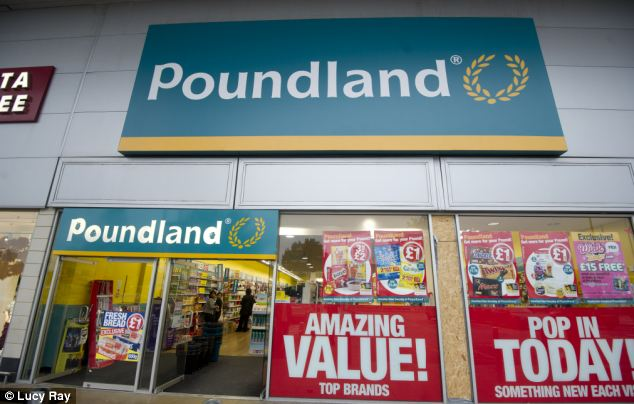 Bargain hunt: A record number of middle class shoppers flocked through the doors of Poundland over Christmas in a bid to cut rising household bills