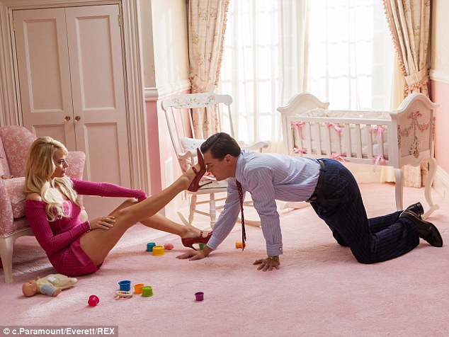 Getting her kicks: The Aussie star had to get kinky with Hollywood heart throb Leonardo Di Caprio for her role in The Wolf of Wall Street