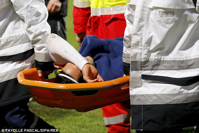 Crocked: Falcao picked up a cruciate ligament injury in Monaco's last game... ruling him out of the World Cup
