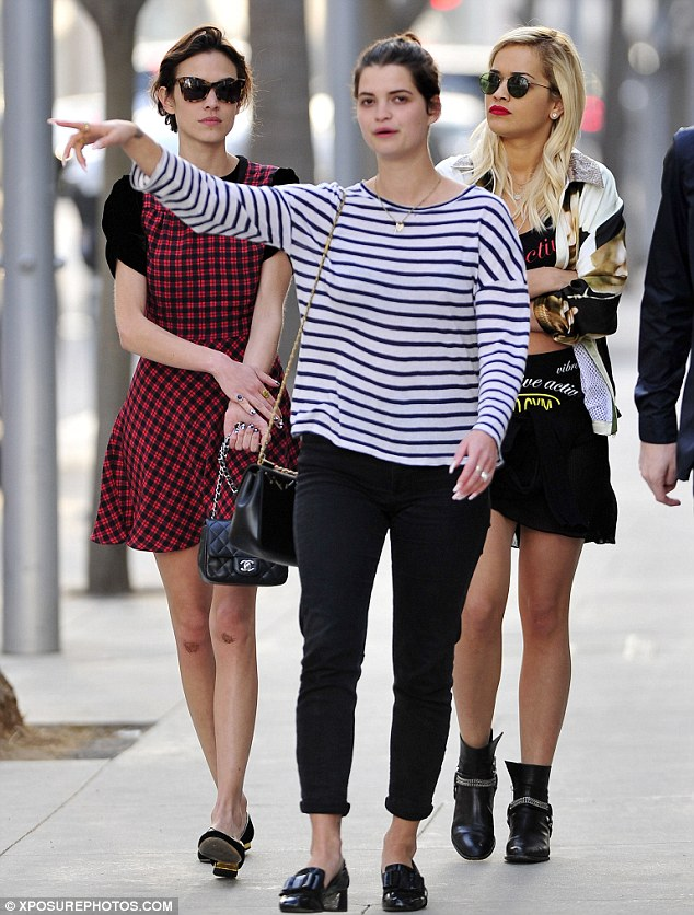 This way: Pixie pointed out their next destination to Alexa and Rita as she led the way on their shopping trip