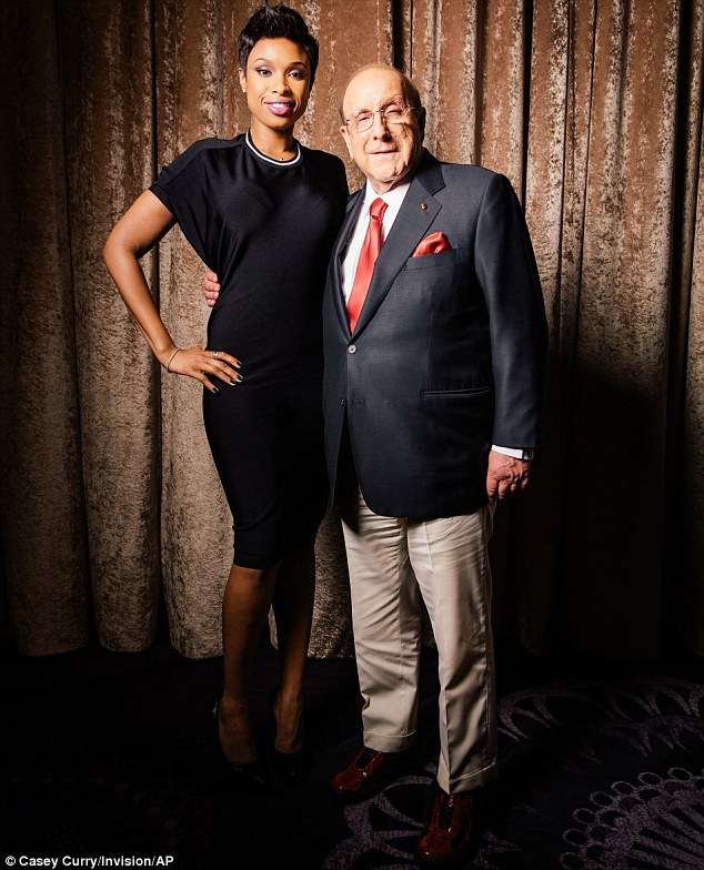 Just in time: Jennifer met up with Clive Davis for a portrait session on Thursday in Beverly Hills to celebrate Sunday's Grammys