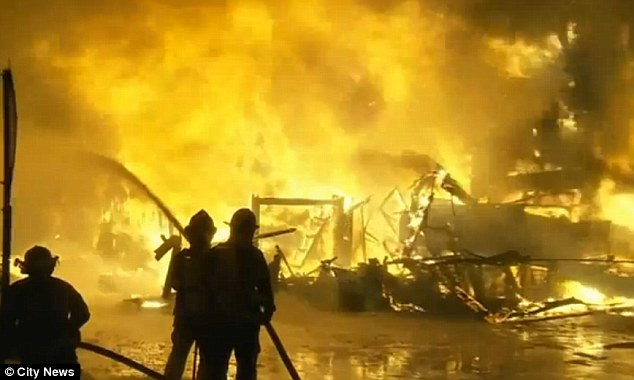 Tragic: Five are dead and more than 30 missing as a result of the raging fire