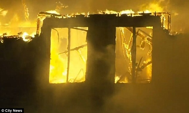 Killer inferno: The fire is confirmed to have taken five lives