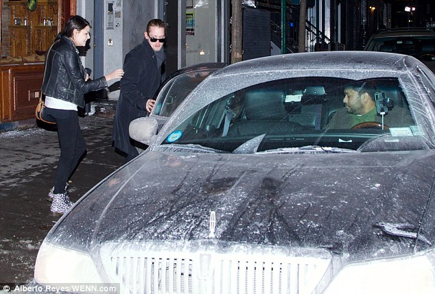 Not going Home Alone: Macaulay was later seen getting in a taxi as he left the Lower East Side with a female companion