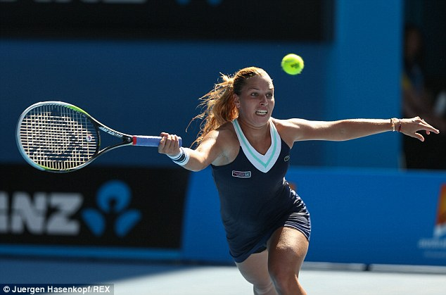 Within reach: Dominika Cibulkova is a win away from her first grand slam title at the Australian Open