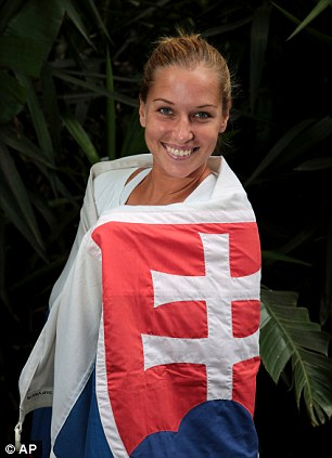 Flying the flag: Cibulkova is looking to become Slovakia's first grand slam champion on Saturday