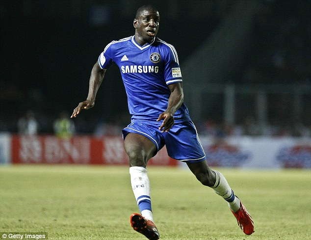 Rare chance: Demba Ba could make just his fourth start of the season or Chelsea