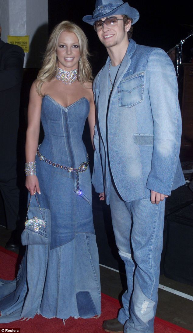 Too much: Denim may now be acceptable in formal situations but - but don't over do it like Britney and Justin back in 2001. Luckily Justin has learnt from this fashion faux par and is one of the best dressed celebrities in denim today